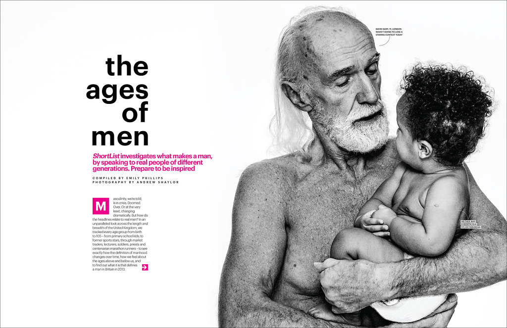 The Ages of Men' for Shortlist Magazine