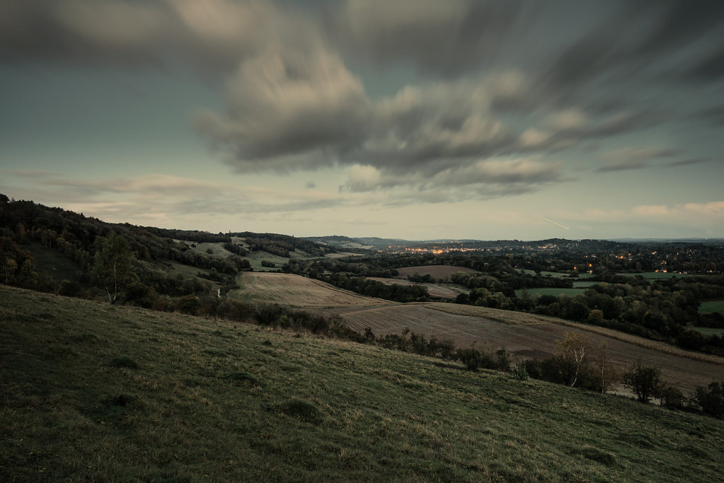 View of Dorking from White Down