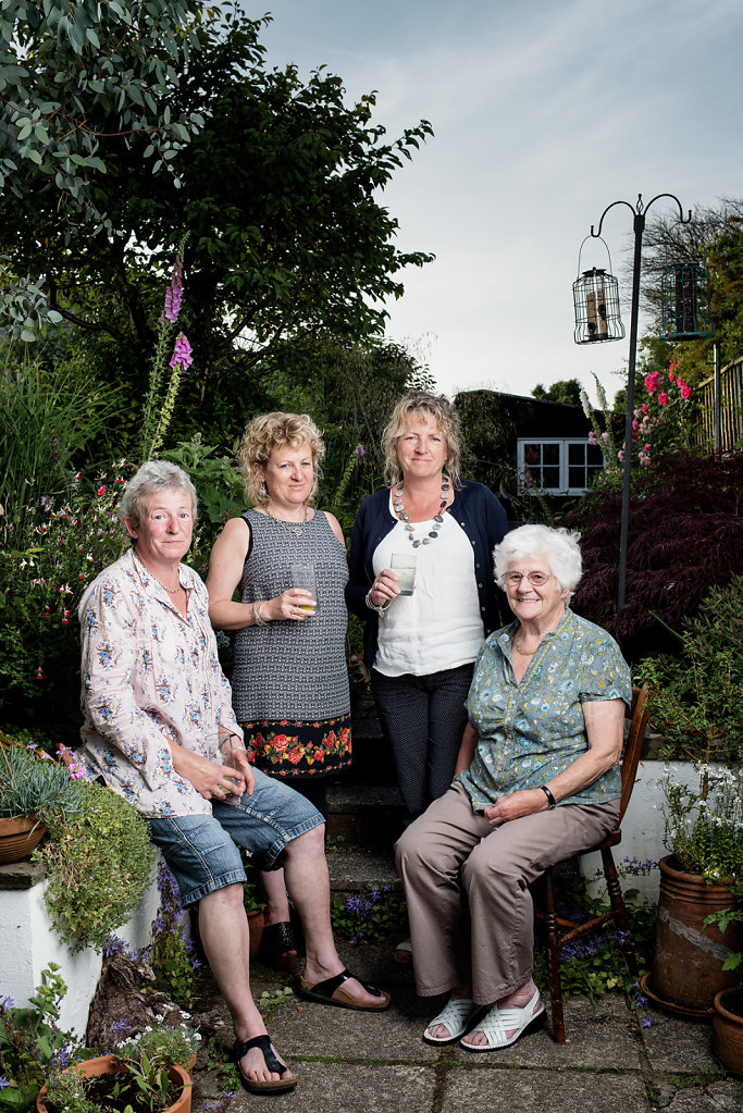 Elizabeth Gaunt (seated right) with her daughters Fliss, Hils & Ros
